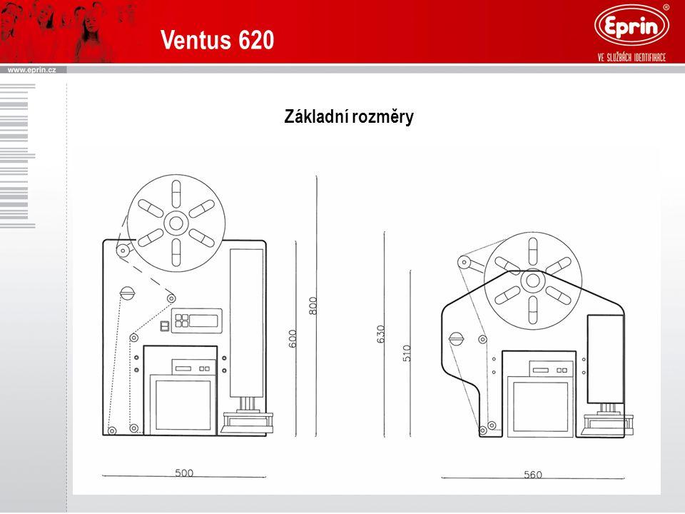 Ventus 620 Základní rozměry