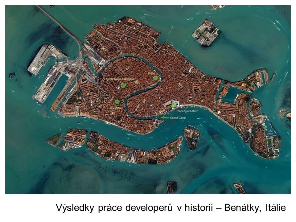 Výsledky práce developerů v historii – Benátky, Itálie