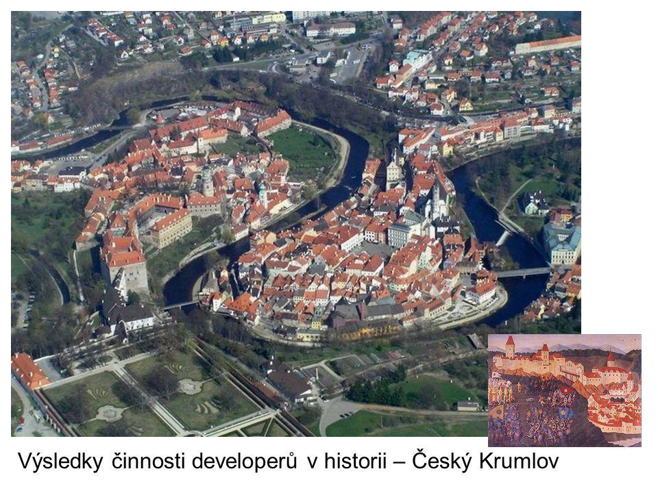 Výsledky činnosti developerů v historii – Český Krumlov