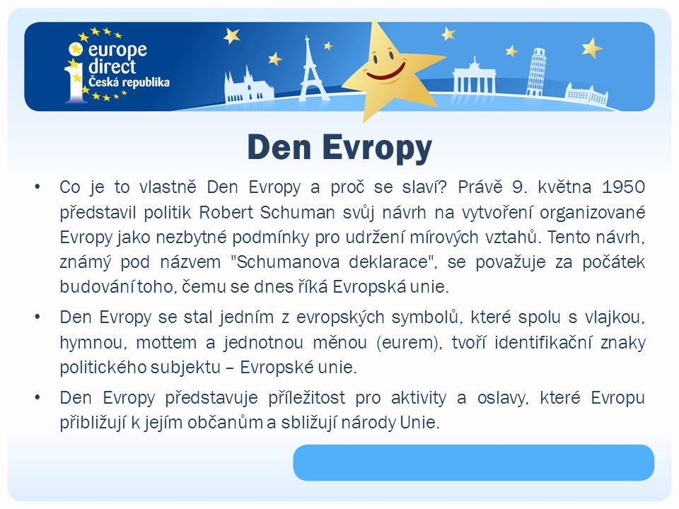 Den Evropy Co je to vlastně Den Evropy a proč se slaví.