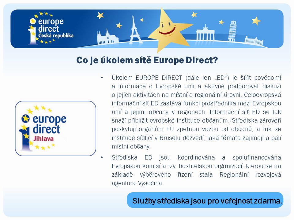 Co je úkolem sítě Europe Direct.