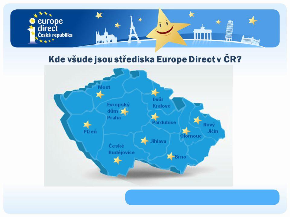 Kde všude jsou střediska Europe Direct v ČR