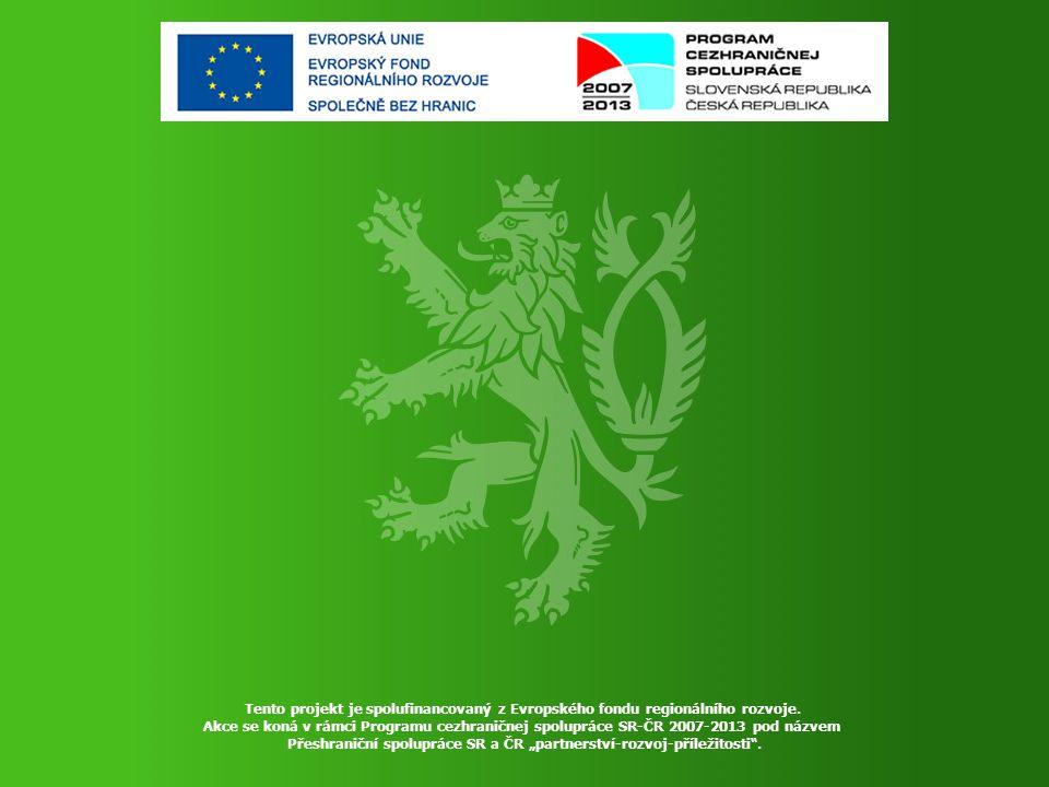 Tento projekt je spolufinancovaný z Evropského fondu regionálního rozvoje.
