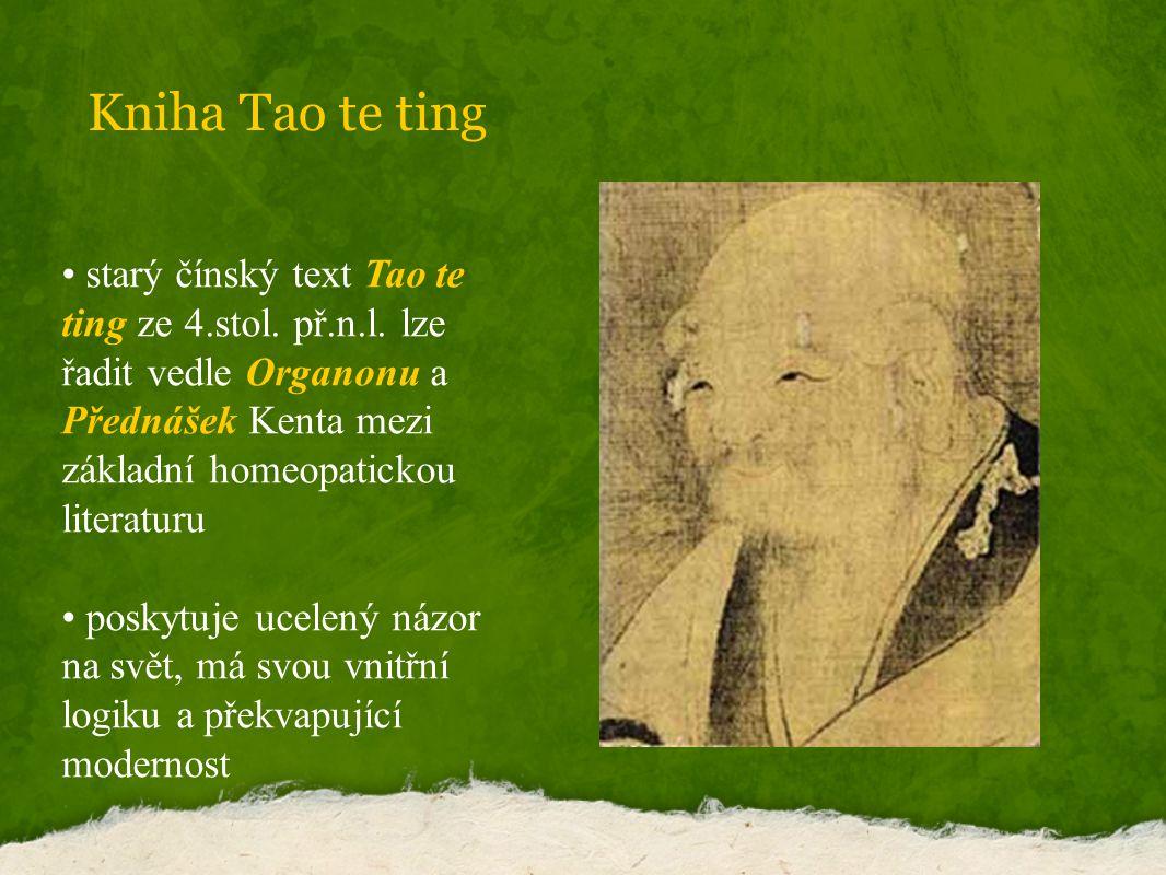 Kniha Tao te ting starý čínský text Tao te ting ze 4.stol.