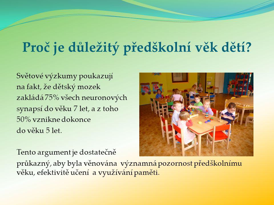 Proč je důležitý předškolní věk dětí.