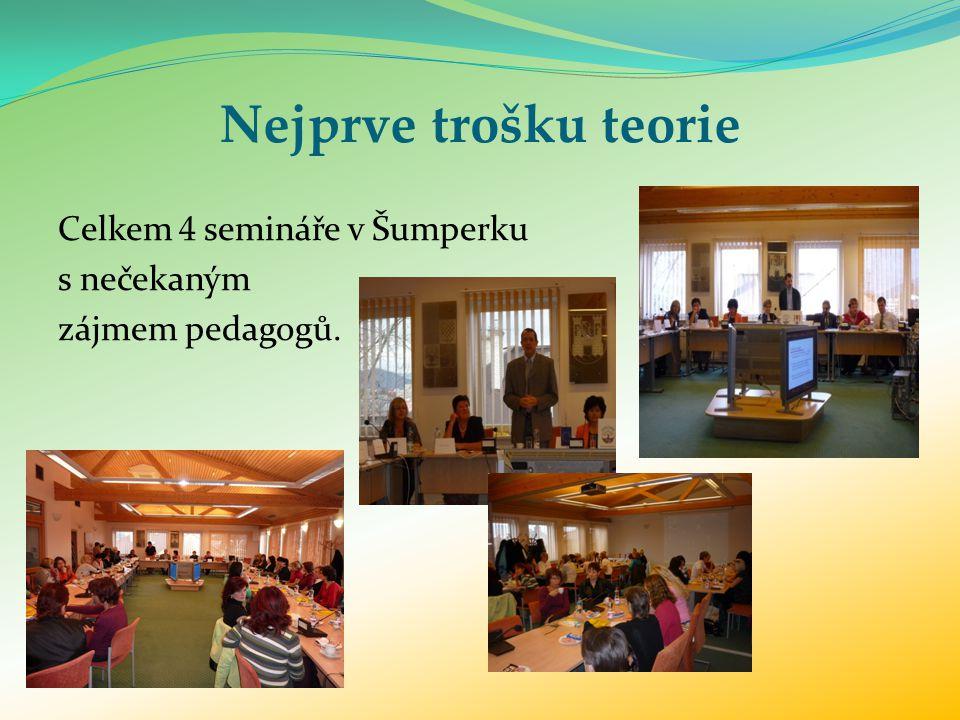 Nejprve trošku teorie Celkem 4 semináře v Šumperku s nečekaným zájmem pedagogů.