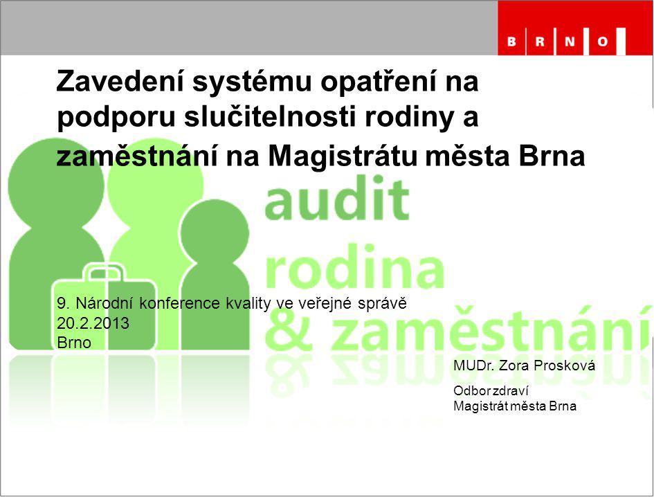 Zavedení systému opatření na podporu slučitelnosti rodiny a zaměstnání na Magistrátu města Brna 9.
