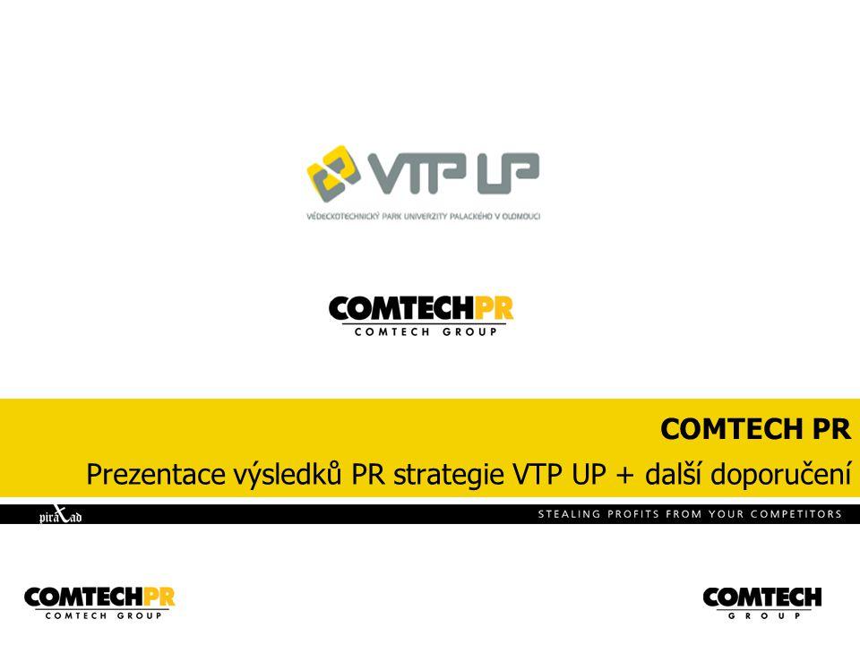 COMTECH PR Prezentace výsledků PR strategie VTP UP + další doporučení