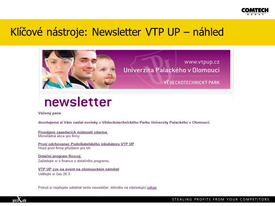 Klíčové nástroje: Newsletter VTP UP – náhled