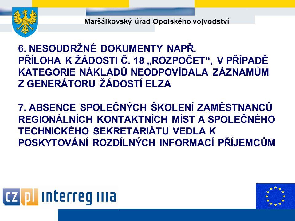 Maršálkovský úřad Opolského vojvodství 4 6. NESOUDRŽNÉ DOKUMENTY NAPŘ.