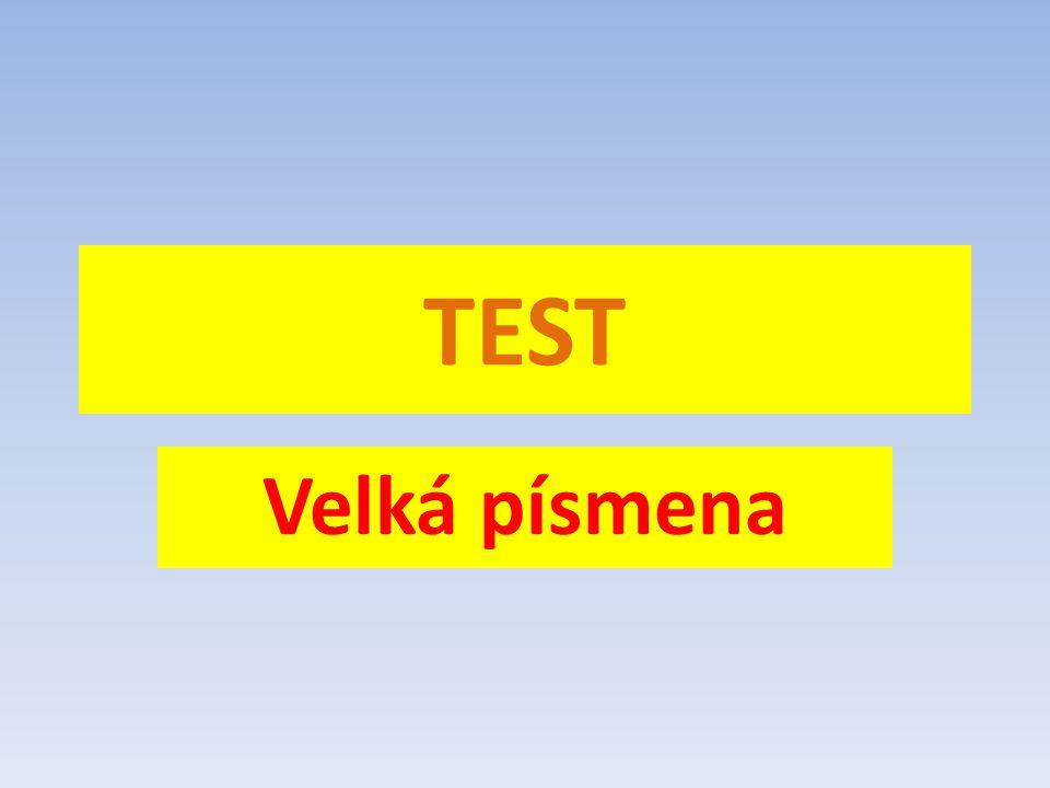 TEST Velká písmena