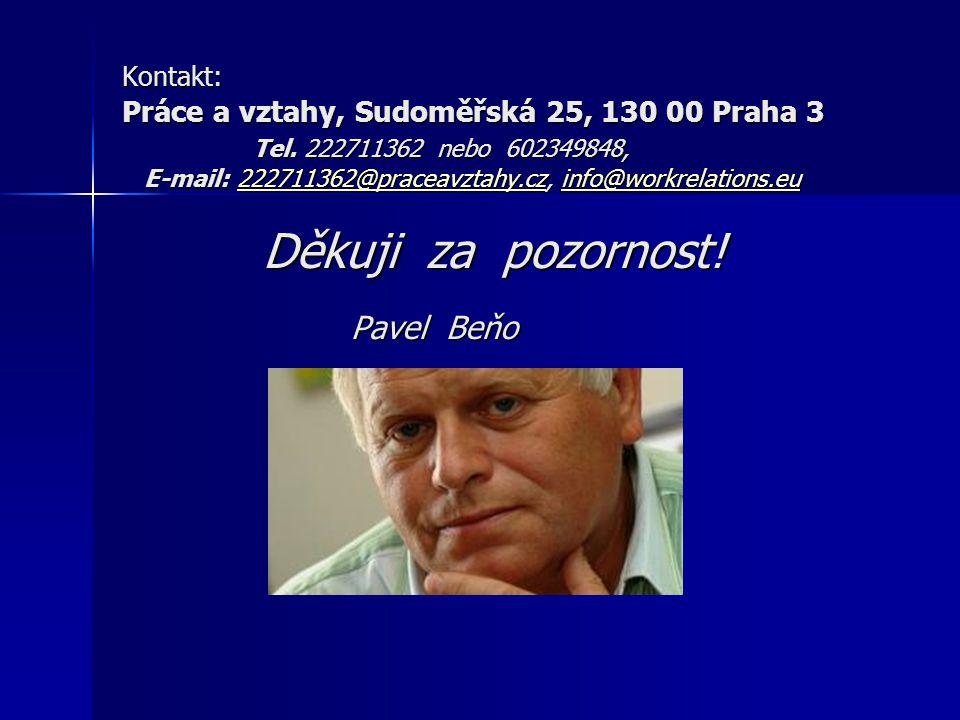 Kontakt: Práce a vztahy, Sudoměřská 25, 130 00 Praha 3 Tel. 222711362 nebo 602349848, E-mail: 222711362@praceavztahy.cz, info@workrelations.eu Děkuji