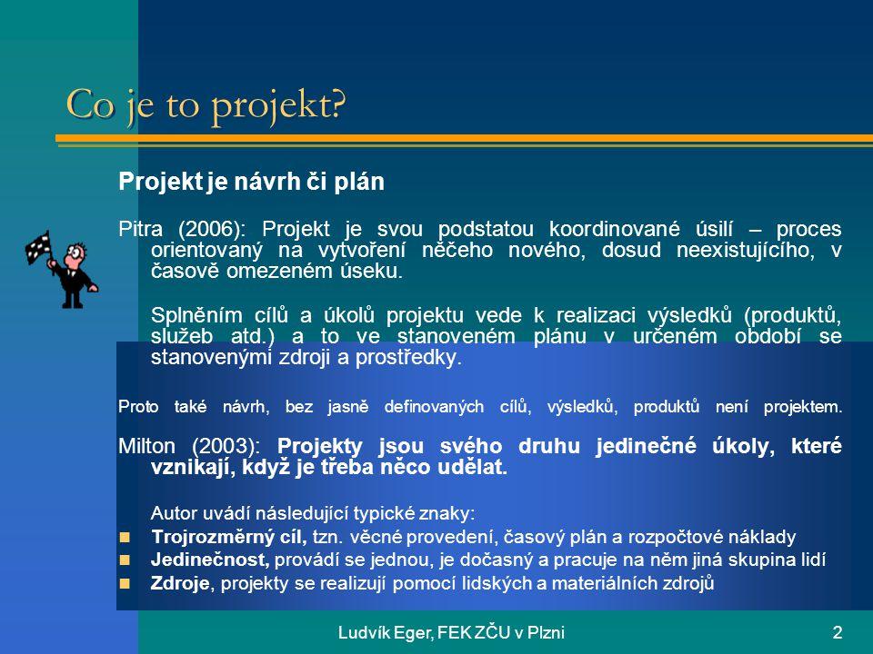 Ludvík Eger, FEK ZČU v Plzni2 Co je to projekt.