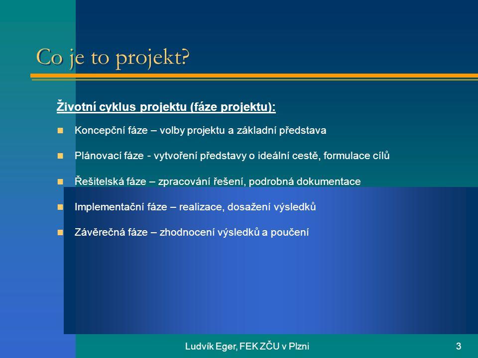 Ludvík Eger, FEK ZČU v Plzni3 Co je to projekt.