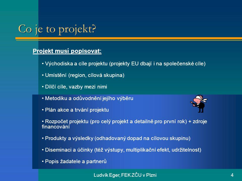 Ludvík Eger, FEK ZČU v Plzni4 Co je to projekt.