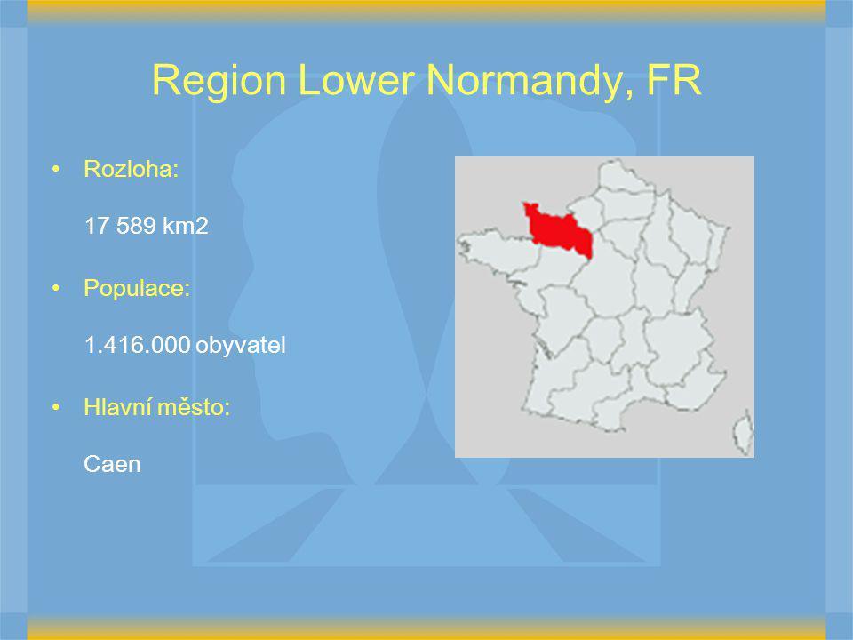 Region Lower Normandy, FR Rozloha: 17 589 km2 Populace: 1.416.000 obyvatel Hlavní město: Caen