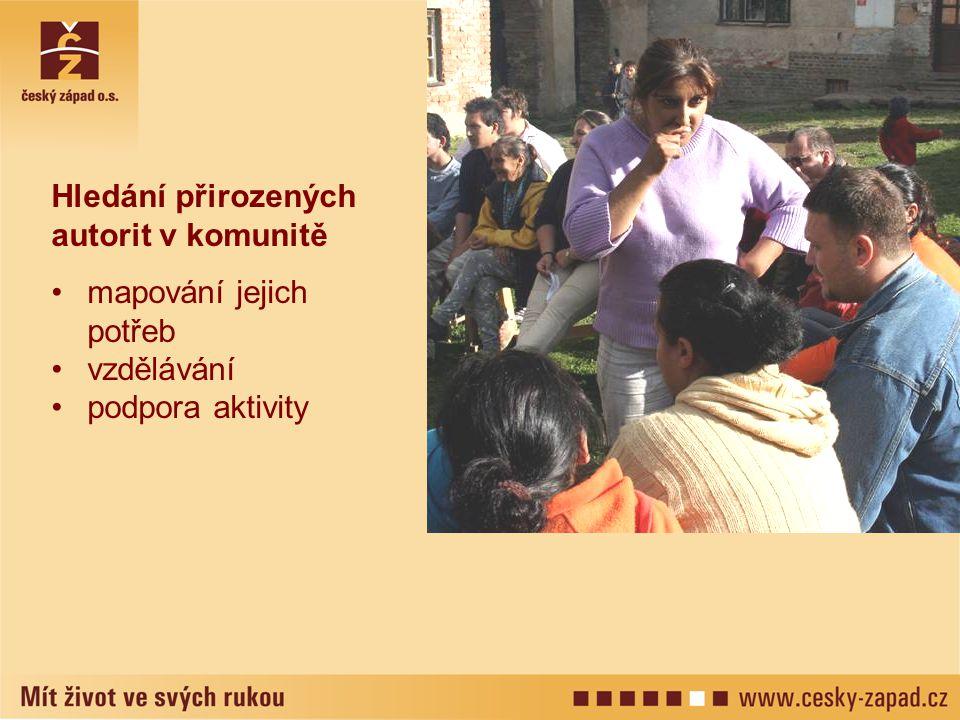 Hledání přirozených autorit v komunitě mapování jejich potřeb vzdělávání podpora aktivity