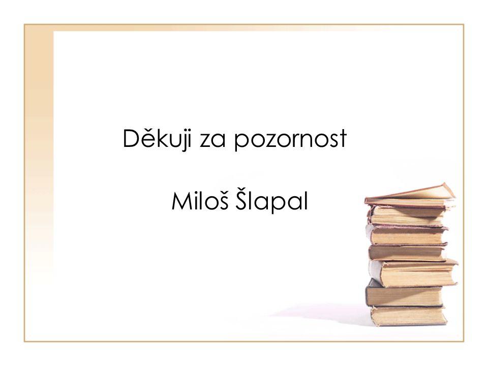 Děkuji za pozornost Miloš Šlapal
