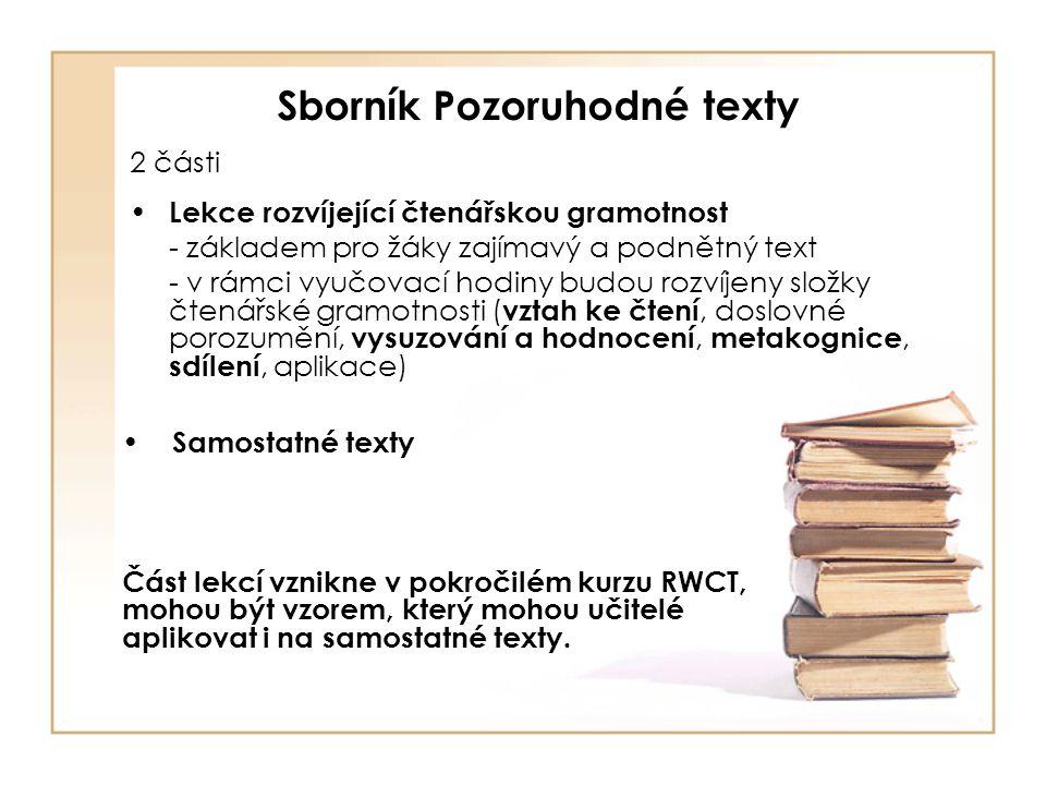 Podrobné rozpracování čtenářských dovedností 2.3.1 Čtenářský záměr (1)Čtenář si stanovuje cíle pro své čtení, čte s vědomým záměrem (2) Čtenář volí vhodný text v souladu se svým záměrem (3) Čtenář naplňování záměru průběžně reflektuje (4) Opustí text, který nesplňuje jeho čtenářský záměr (5) Po dočtení textu zhodnotí, zda byl jeho původní záměr či cíl četby naplněn či nikoliv (6) po dočtení textu si stanovuje další cíl četby – další čtenářský záměr