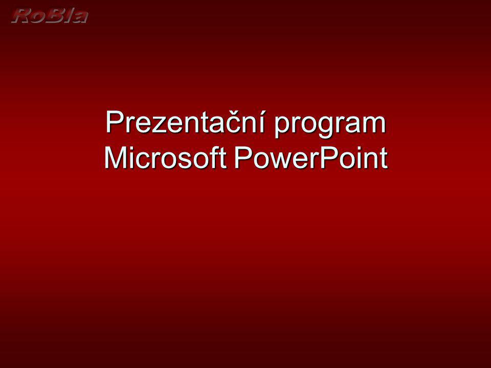 Zobrazení v aplikaci PowerPoint Normální zobrazení Normální zobrazení Normální zobrazení se používá k zápisu a návrhu prezentace.