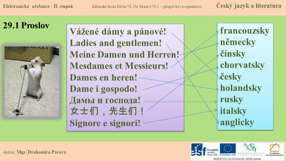 29.1 Proslov Elektronická učebnice - II.