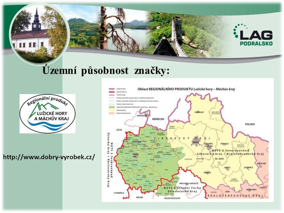 Územní působnost značky: http://www.dobry-vyrobek.cz/