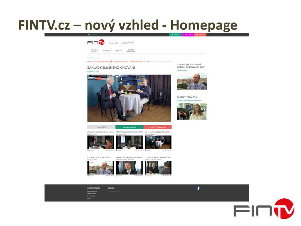FINTV.cz – nový vzhled - Homepage