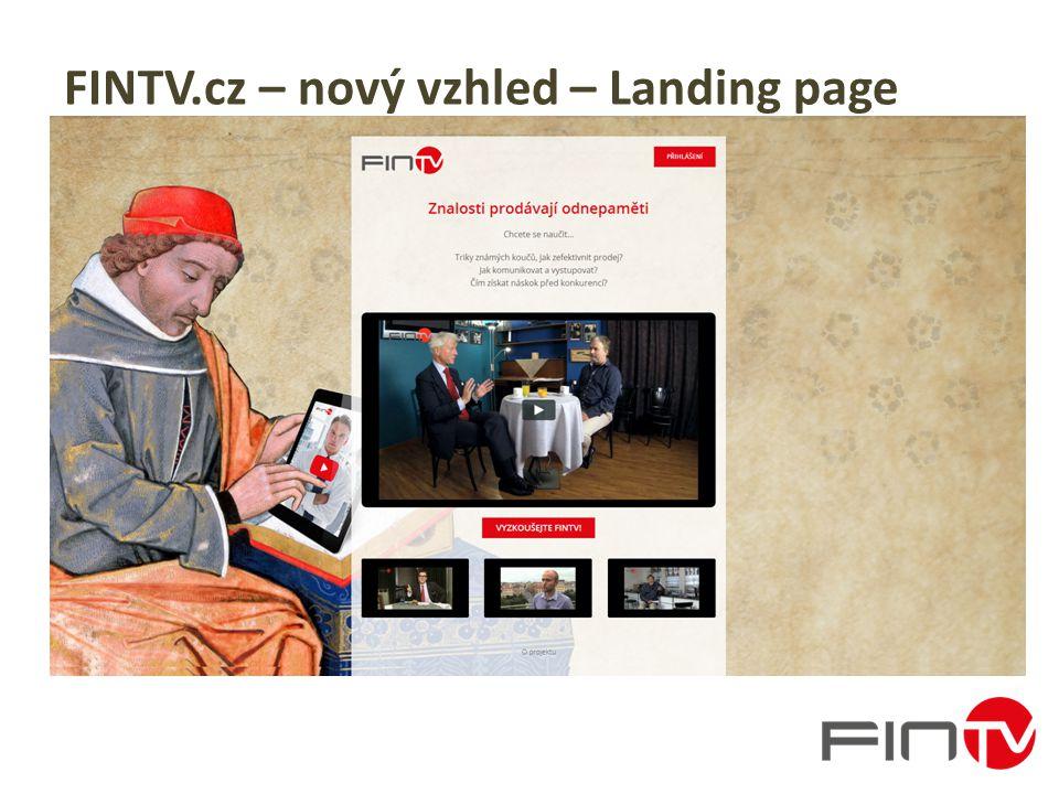 FINTV.cz – nový vzhled – Landing page