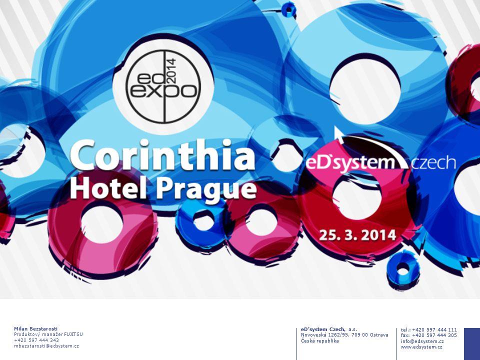eD'system Czech, a.s. Novoveská 1262/95, 709 00 Ostrava Česká republika tel.: +420 597 444 111 fax: +420 597 444 305 info@edsystem.cz www.edsystem.cz