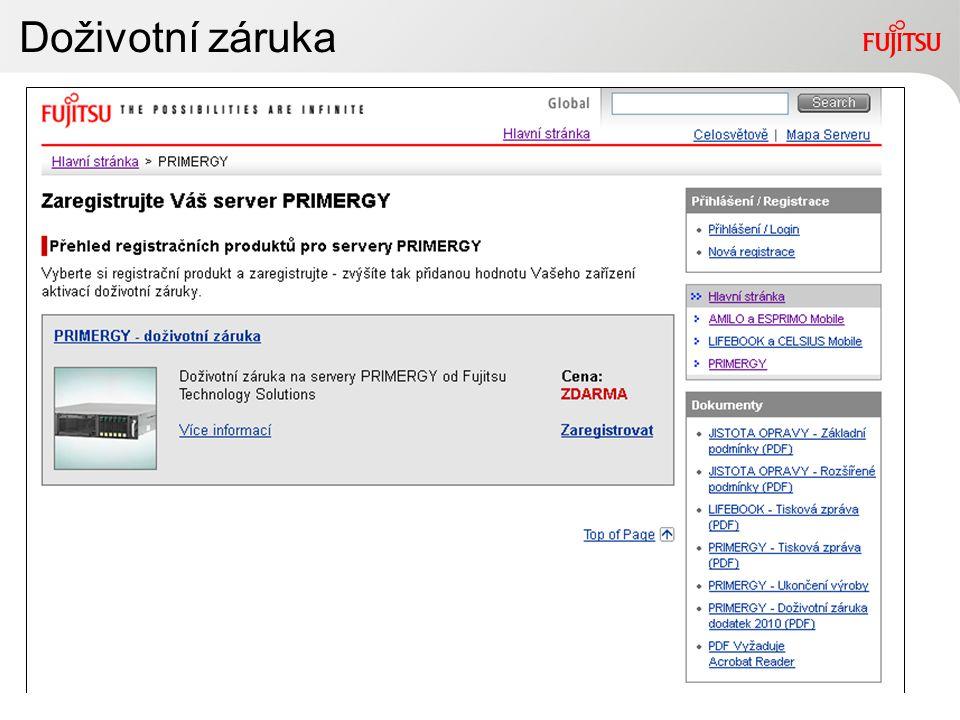 12Copyright 2010 FUJITSU Za to ručím! Registrace záruk na produkty od společnosti Fujitsu. Vážení zákazníci, vítejte na registračních stránkách společ