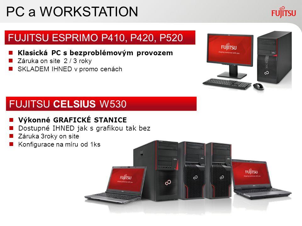 7Copyright 2010 FUJITSU PC a WORKSTATION FUJITSU ESPRIMO P410, P420, P520 FUJITSU CELSIUS W530 Výkonné GRAFICKÉ STANICE Dostupné IHNED jak s grafikou