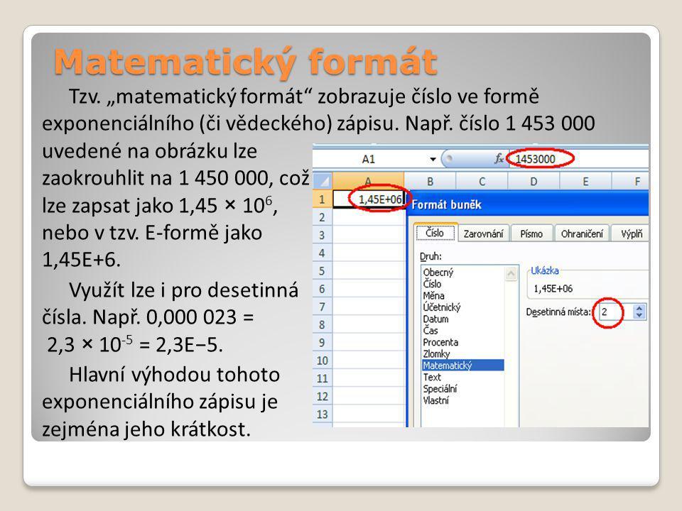 Matematický formát Tzv.