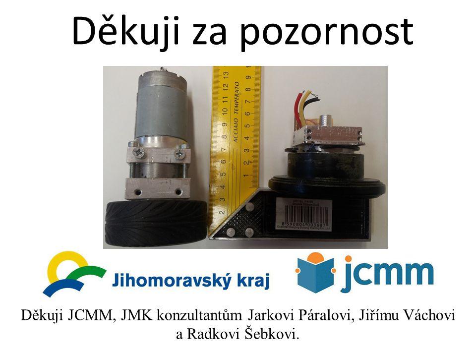 Děkuji za pozornost Děkuji JCMM, JMK konzultantům Jarkovi Páralovi, Jiřímu Váchovi a Radkovi Šebkovi.