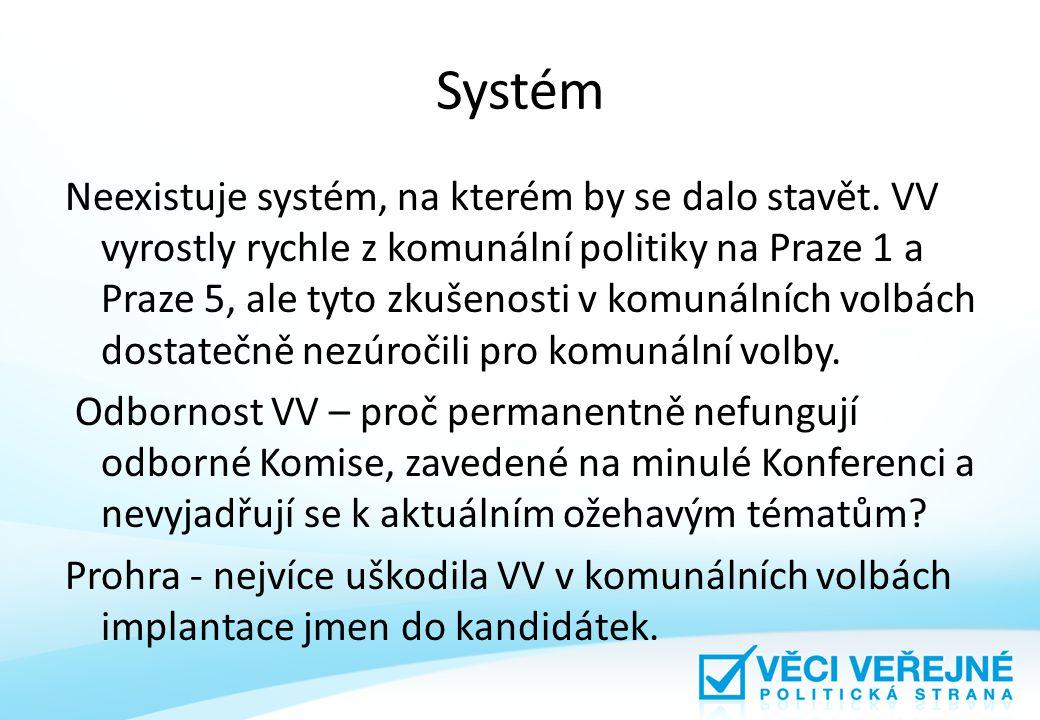 Systém Neexistuje systém, na kterém by se dalo stavět.