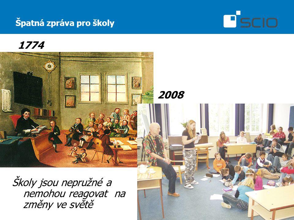 Špatná zpráva pro školy 1774 2008 Školy jsou nepružné a nemohou reagovat na změny ve světě