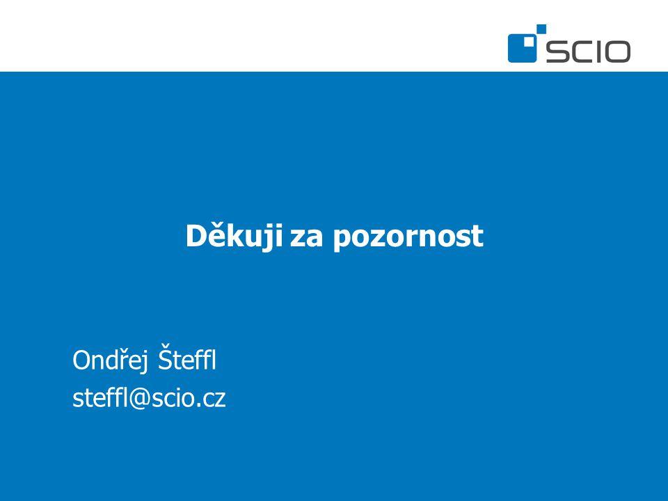 Děkuji za pozornost Ondřej Šteffl steffl@scio.cz