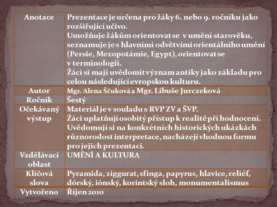 ORIENTÁLNÍ ORIENTÁLNÍ 5.tis. př. n. l. – 12. stol.