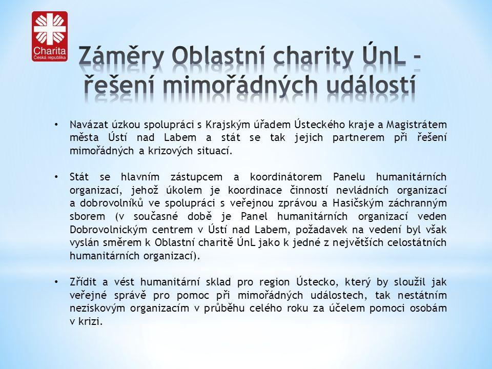 Navázat úzkou spolupráci s Krajským úřadem Ústeckého kraje a Magistrátem města Ústí nad Labem a stát se tak jejich partnerem při řešení mimořádných a