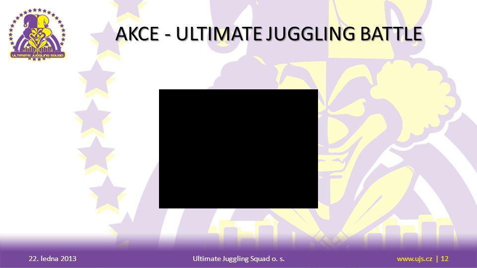 AKCE - ULTIMATE JUGGLING BATTLE 22. ledna 2013Ultimate Juggling Squad o. s.www.ujs.cz | 12