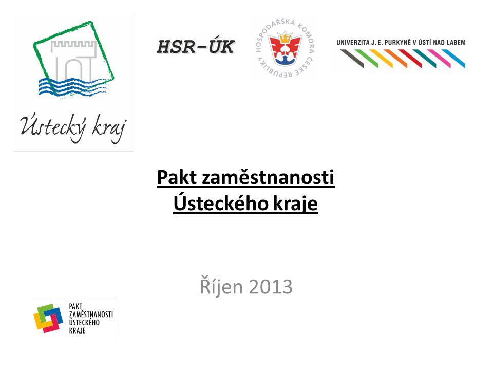 Pakt zaměstnanosti Ústeckého kraje Říjen 2013