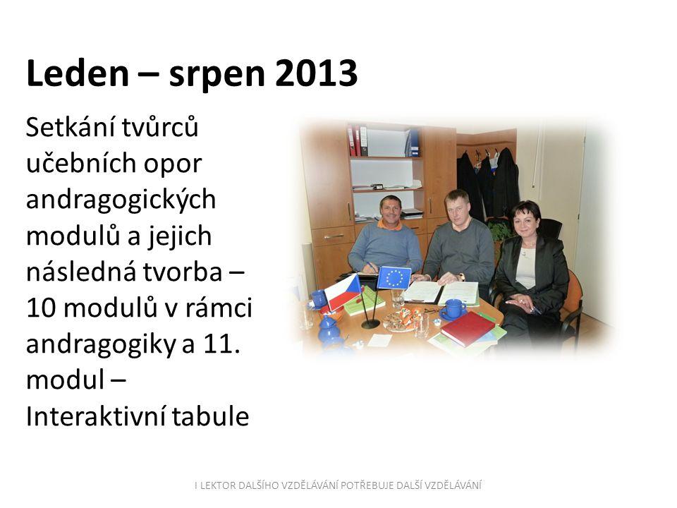 Únor 2014 Obsahová a metodická příprava vzdělávacího programu, tvorba osnov a sledu jednotlivých lekcí, organizace výuky Lektor: Mgr.