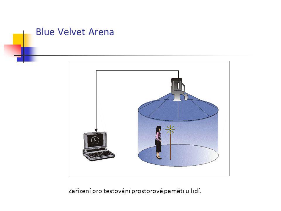 Blue Velvet Arena Zařízení pro testování prostorové paměti u lidí.