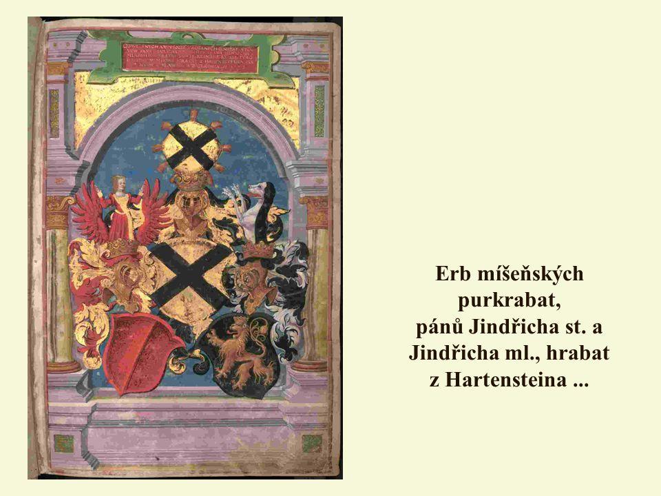 Erb míšeňských purkrabat, pánů Jindřicha st. a Jindřicha ml., hrabat z Hartensteina...