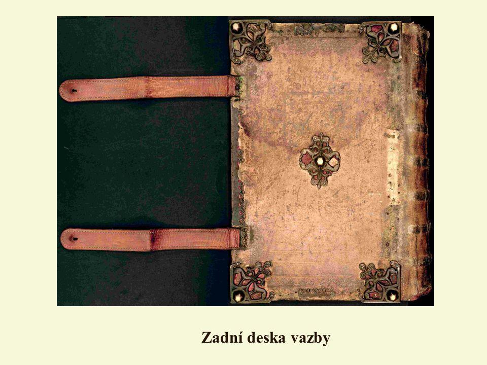 Zadní deska vazby