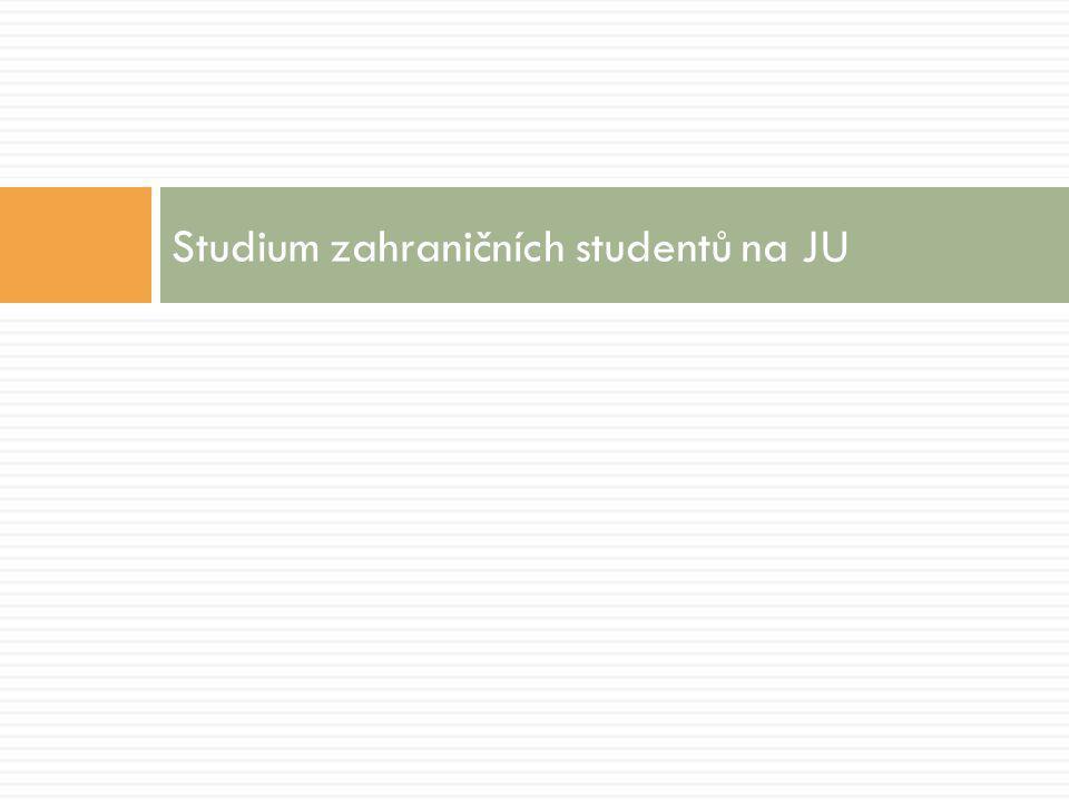 Studium zahraničních studentů na JU