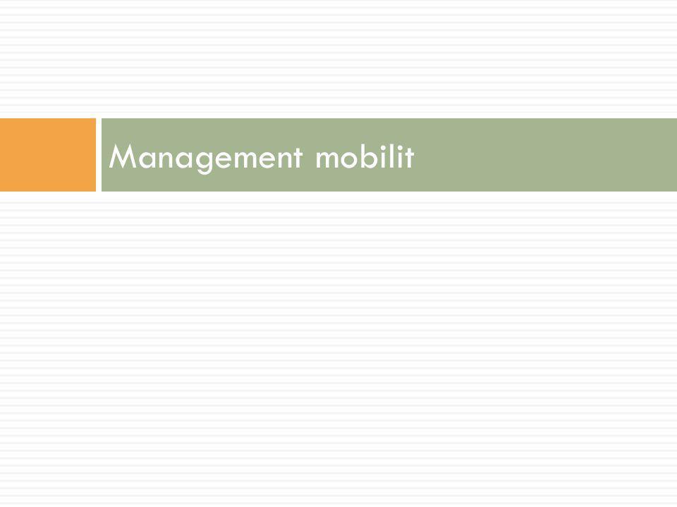 Management mobilit