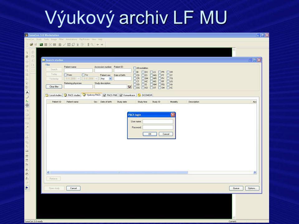 archiv LF MU Výukový archiv LF MU