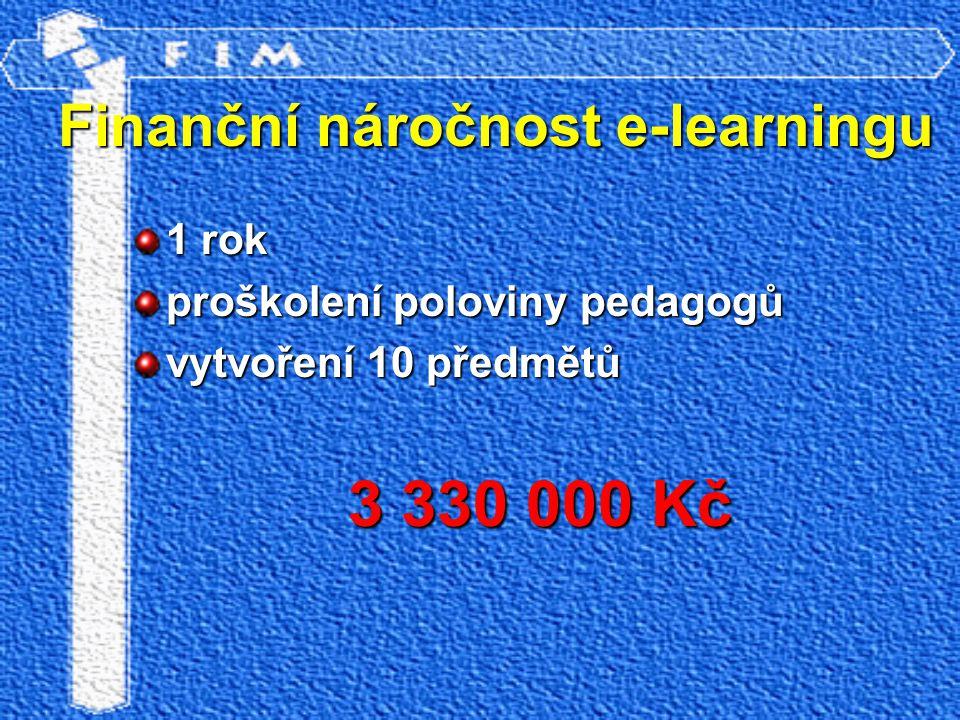 1 rok proškolení poloviny pedagogů vytvoření 10 předmětů 3 330 000 Kč