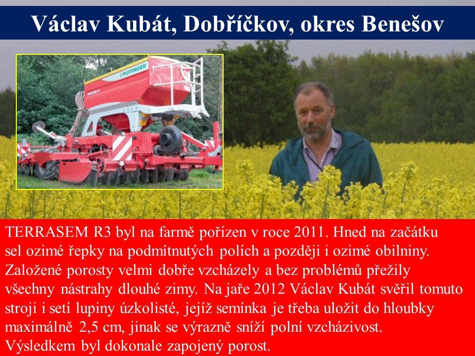 Seite 18 Václav Kubát, Dobříčkov, okres Benešov TERRASEM R3 byl na farmě pořízen v roce 2011.