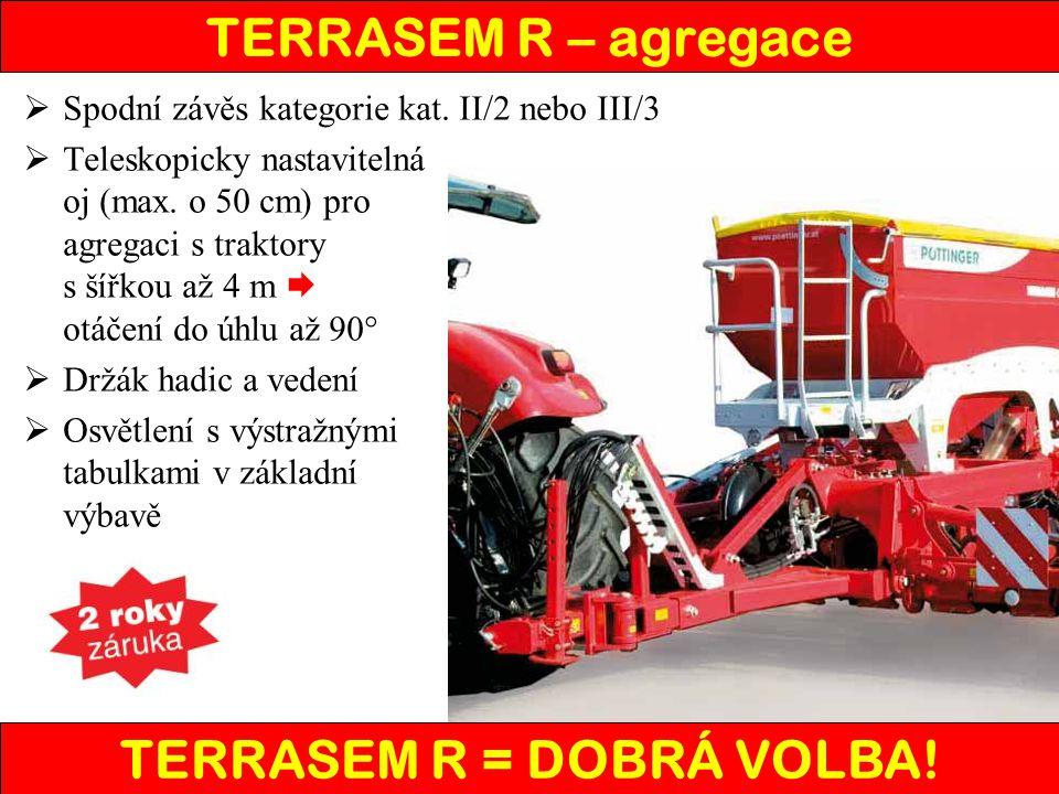 TERRASEM R – agregace  Spodní závěs kategorie kat.